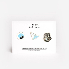 UP Express branded set of metal pins