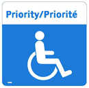 Priority seating decal