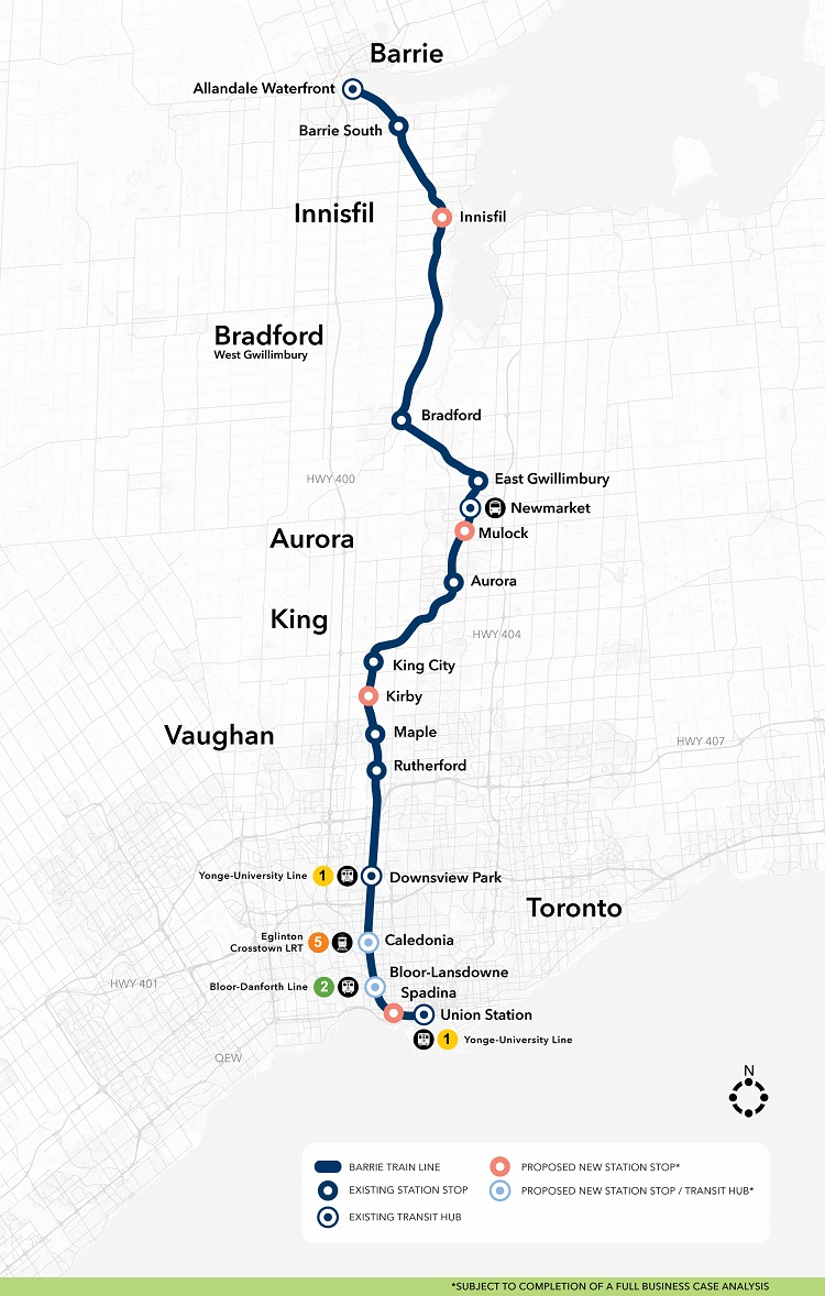 Ttc Subway Map 2025.Metrolinx For A Greater Region Barrie Go Expansion