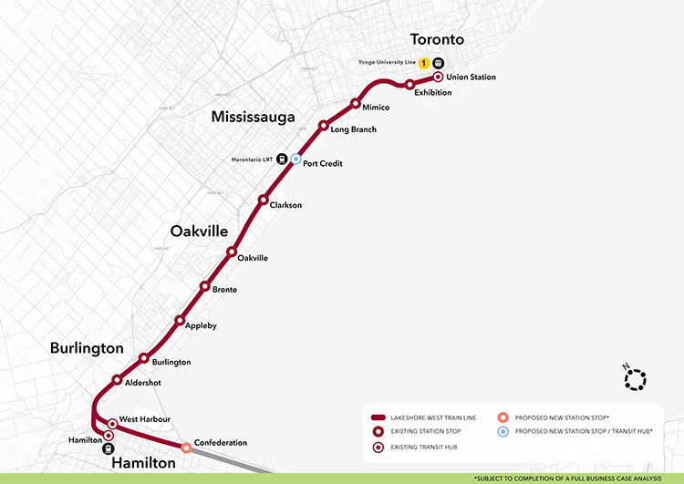 Ttc Subway Map 2025.Metrolinx For A Greater Region Lakeshore West Go Expansion