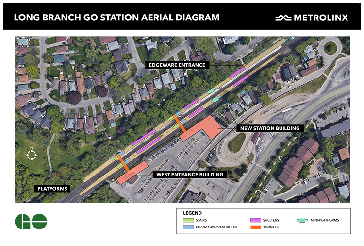 LONG BRANCH GO STATION AERIAL DIAGRAM