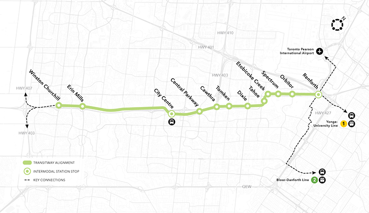 Metrolinx For a Greater Region Mississauga Transitway