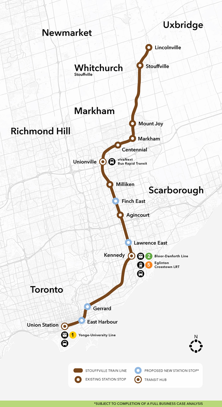 Metrolinx For a Greater Region Stouffville GO Expansion