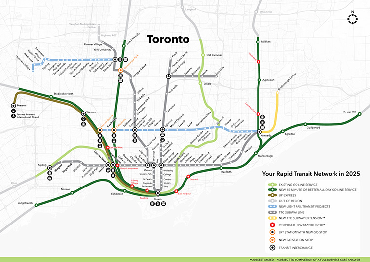 Toronto Subway Map Union Station.Metrolinx For A Greater Region Toronto