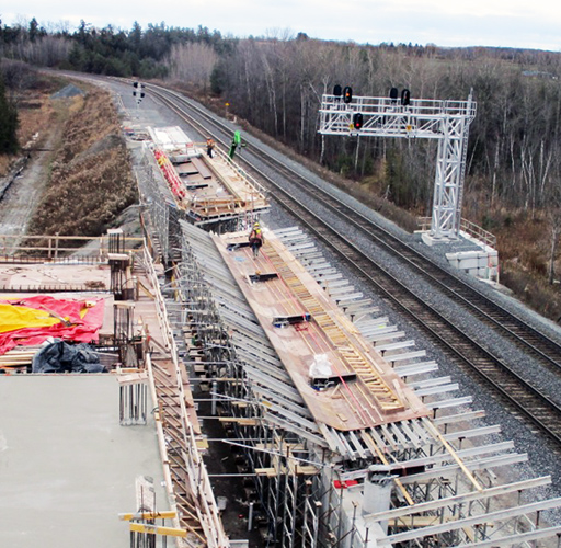 An all-new GO station under construction in York Region.